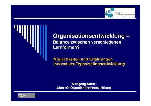 u. a. Lernende Organisation, Change Management - OrgLab