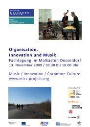 Organisation, Innovation und Musik - OrgLab