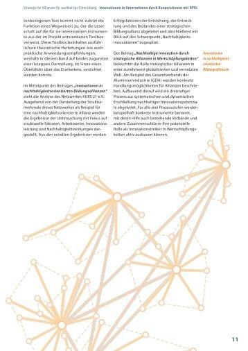 Strategische Allianzen für nachhaltige Entwicklung ... - OrgLab