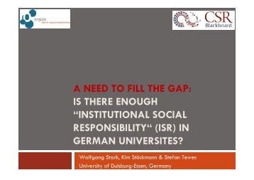 institutional social responsibility - OrgLab