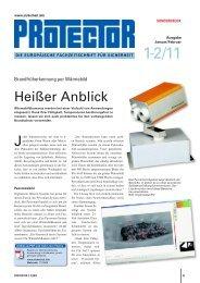 Protector Sonderdruck 1-2/11 - ORGLMEISTER Infrarot Systeme