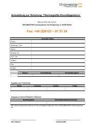 Fax: +49 (0)6123 – 97 21 24 - ORGLMEISTER Infrarot Systeme