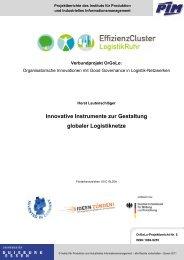 Innovative Instrumente zur Gestaltung globaler Logistiknetze - OrGoLo