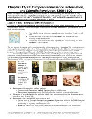 European Renaissance, Reformation, and Scientific ... - OrgSites