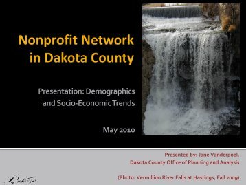 Dakota County Demographics and Socio-Economic ... - OrgSites