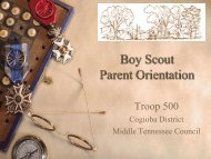 Boy Scout Parent Orientation - OrgSites