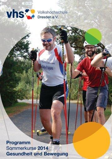 Programm Sommerkurse 2014 Gesundheit und Bewegung
