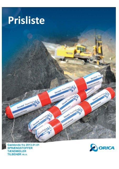 Prisliste 2013 - Orica Mining Services