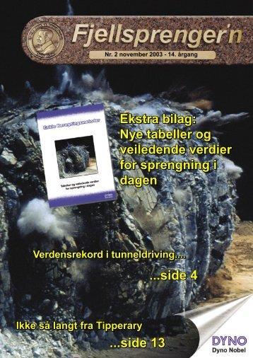 Fjellsprengern Nummer 2_2003.pdf - Orica Mining Services