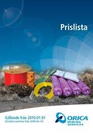 Prislista - Orica Mining Services