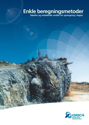 Enkle beregningsmetoder - Orica Mining Services