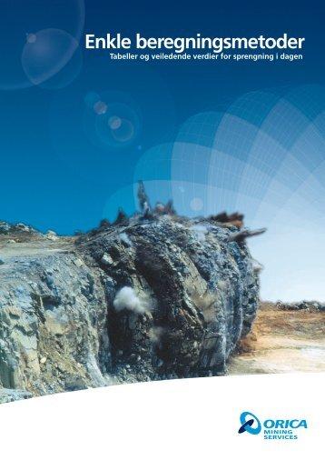 Enkle beregninger_2013 N.pdf - Orica Mining Services