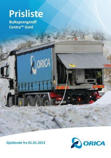 Prisliste Bulk 01.01.2013 - Orica Mining Services