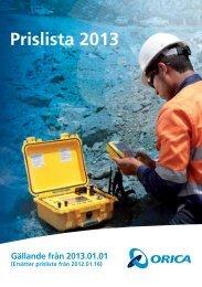 Prislista 2013 - Orica Mining Services