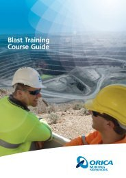 Blast Training Course Guide - Orica Mining Services