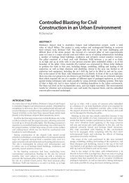 Controlled Blasting for Civil Construction in an Urban Environment
