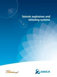 Seismic explosives and initiating systems - Orica Mining Services