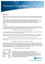 Briefing Note on Reactive Ground - Orica Mining Services