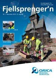Fjellsprenger'n - Orica Mining Services