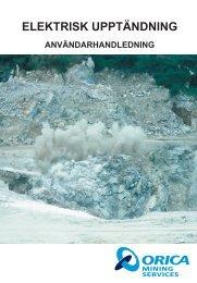 ELEKTRISK UPPTÄNDNING - Orica Mining Services