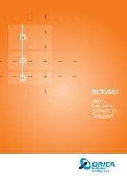 Value Calculator Software for Stratablast - Orica Mining Services