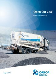 Open Cut Coal - Orica Mining Services