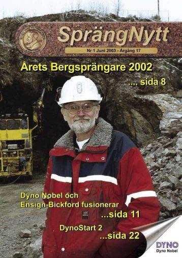 SprengNytt Nummer 1_2003.pdf - Orica Mining Services