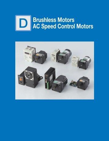 Brushless Motors AC Speed Control Motors - Oriental Motor