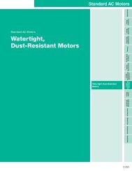 Watertight, Dust-Resistant Motors - Oriental Motor