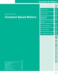 AC Constant Speed Motors Introduction (pg. C-9 to ... - Oriental Motor