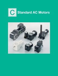C Standard AC Motors - Oriental Motor