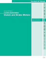Clutch and Brake Motors - Oriental Motor