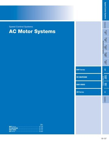 AC Motor Systems - Oriental Motor