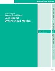 Low-Speed Synchronous Motors - Oriental Motor