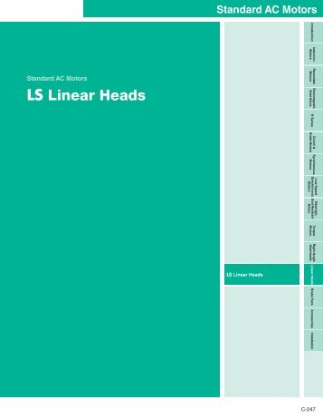LS Linear Heads - Oriental Motor