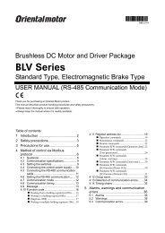 BLV Series - Oriental Motor