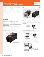 ASX Series Product Catalog (DC Input) - Oriental Motor