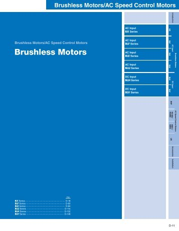 Brushless Motors - Oriental Motor