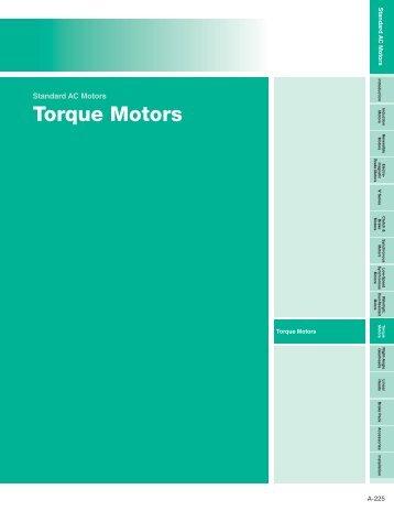 Torque Motors - Oriental Motor