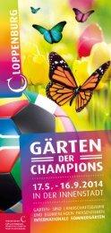 Sommergärten 2014 Themen und Standorte