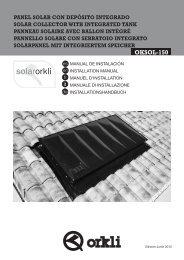 Manual de Instalación Sistema Solar OKSOL-150 - Orkli