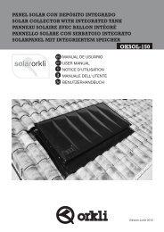 Manual de usuario del Sistema Solar OKSOL-150 - Orkli