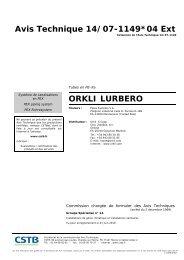 Avis Technique 14/07-1149*04 Ext ORKLI LURBERO - CSTB