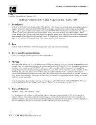 KODAK VISION 800T Color Negative Film / 5289, 7289