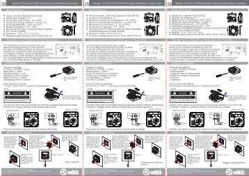 Termostato mecánico modelos 547005-547006 - Orkli