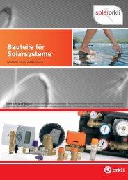 Bauteile für Solarsysteme - Orkli
