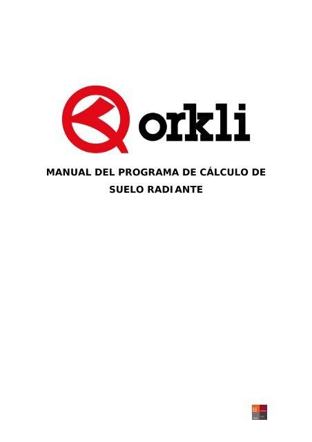 manual del programa de cálculo de suelo radiante - Orkli