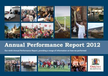 Annual Performance Report 2012 print version - Orkney Islands ...