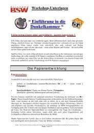 Workshop-Unterlagen - (Bba) Foto/Film