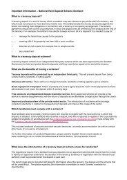 National Rent Deposit Scheme Information - Orkney Islands Council